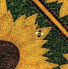 mosaic bees | Sunflower Table Detail