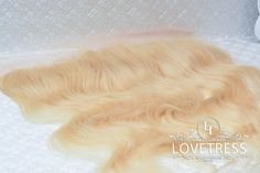 """16""""  Color #613 Blonde Lace Frontal 13"""" X 4"""" Body Wave Free Parting by Lovetresshair on Etsy"""