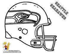 Your Bossy Free Football Coloring Pages of NFL teams helmets and super bowl stuff! Only YesColoring has your red-blooded classic, and unusual print outs of quarterbacks, football gear, balls, shoes and more. Seahawks Football, Seattle Seahawks, Denver Broncos, Seahawks Helmet, Broncos Helmet, Free Football, Football Jerseys, Football Helmets, Nfl Seattle