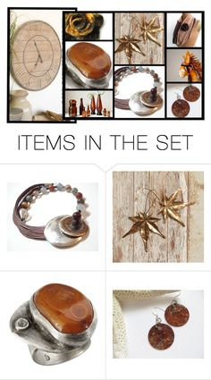 """Go Brown for Fall"" by fibernique ❤ liked on Polyvore featuring art"
