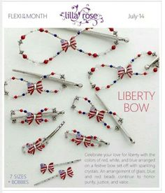 The Liberty Bow, July's Flexi of the month was released early because of the 4th of July!! Order it toady to get it in time and also take advantage of the great sale going on!! https://www.lillarose.biz/graceishis/