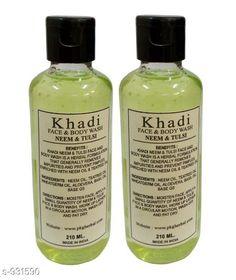 Body Khadi Neem Tulsi Face & Body Wash Pack of 2  *Product Name* Khadi Neem & Tulsi Face & Body Wash  *Product Type* Body Wash  *Capacity* 210 ml Each  *Description* It Has 2 Pack Of Neem & Tulsi Face & Body Wash  *Sizes Available* Free Size *   Catalog Rating: ★3.9 (339)  Catalog Name: Free Sample body wash Standard Choice Body Care Products Vol 6 CatalogID_109676 C52-SC1272 Code: 612-931590-