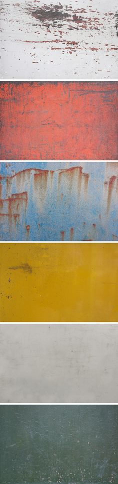 Today's special is an original set of 6 weathered textures that you can use freely as backgrounds or in any design...