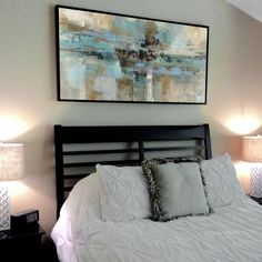 Neutral Abstract Art In A Sunny Contemporary Bedroom | Great Big Canvas | ABSTRACT  ART... Wow!!! | Pinterest | Neutral Art, Neutral And Dancing