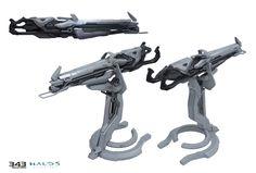 Forerunner Splinter Turret for Halo 5 Guardians, Sam  Brown on ArtStation at https://www.artstation.com/artwork/qo9oD