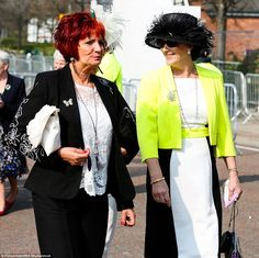 Zingy! Neutral black and white was a popular choice with racegoers, although some opted to...