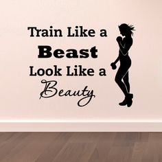 Cheap wall decals quotes, Buy Quality sports wall decals directly from China wall decals Suppliers: Sports Wall Decal Quotes Train Like A Beast Look Like A Beauty Vinyl Stickers Gym Fitness Motivation Health Sports Wall Art A100