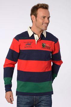 Valecuatro polo rugby bandas rojo