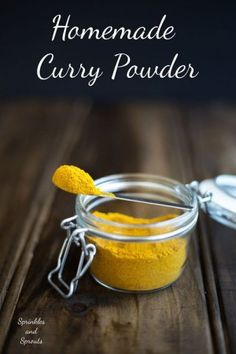 Quick, easy, natural AND it tastes so much better than your store bought brands. Homemade Spices, Homemade Seasonings, Homemade Curry Powder, Mild Curry Powder Recipe, Sauces, Spice Mixes, Spice Blends, Seasoning Mixes, Seasoning Recipe