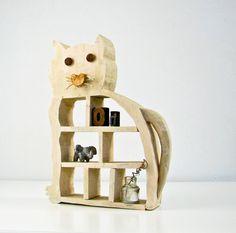 Folk Art Wood Cat Shelf - $35.00, via Etsy.