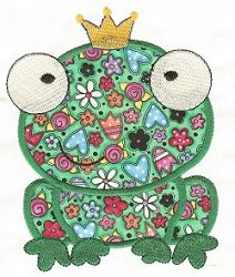 Frog Prince - 2 Sizes! | Princess | Machine Embroidery Designs | SWAKembroidery.com Designs by Juju