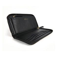 Bosca Nappa Vitello Leather Zip Around Womens Wallet Bosca. $125.00