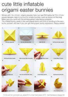 Origami Easter bunny tutorial