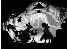 Lotte Reiniger - early cut-paper animation Silhouette against watercolor background for depth. Shadow Art, Shadow Play, Cut Out Animation, Shadow Theatre, Shadow Puppets, Silhouette Art, Stop Motion, Paper Cutting, Cut Paper