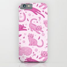 Pink Playful Kittens iPhone & iPod Case