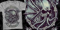"""Octoskull 2"" t-shirt design by Namsing"