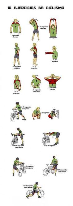 Antes de pedalear, unos buenos ejercicios para calentar y comenzar a rodar!