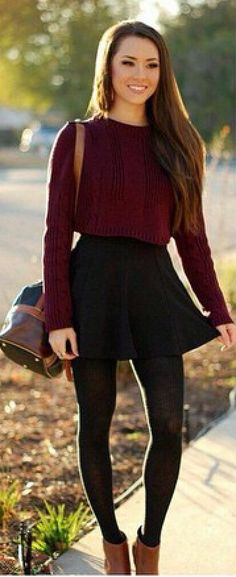 love this style Autumn Skirt Outfit 4ed3b4b38070e