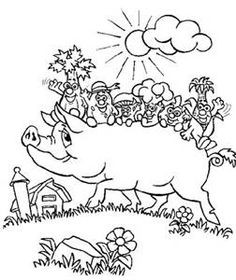 21 Best Farm Animals Coloring Pages Images On Pinterest