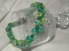 Shades of Blue and Green Bracelet by Laveckey on Etsy, $20.00