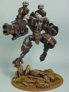 Warhammer 40k Tau Riptide. Great custom pose! Doesn't look very stable...