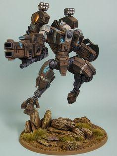 Warhammer 40k Tau Riptide. Great custom pose! Doesn't look very stable...