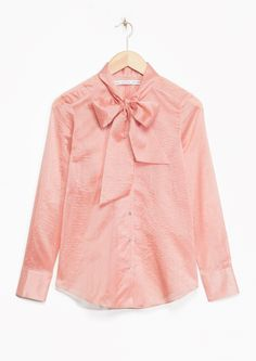 & Other Stories | Ribbon Collar Silk-Blend Blouse