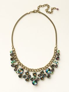 Round Crystal Cluster Bib Necklace in Volcano by Sorrelli (http://www.sorrelli.com/products/NCW10AGVO)