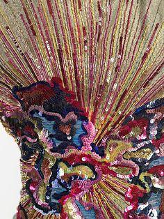 Schiaparelli Blouse - detail - FW 1938-39 - by Elsa Schiaparelli (Italian, 1890-1973) - Silk, metal