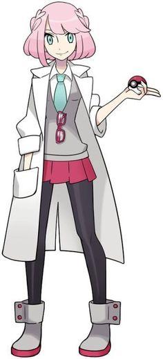 Bailey Cherry (Professor) Gender:Cis-male (he/him will correct if so Pokemon Rpg, Pokemon Waifu, Pokemon Games, Pokemon Trainer Outfits, Pokemon Trainer Costume, First Pokemon, Pokemon Special, Female Character Design, Character Design Inspiration