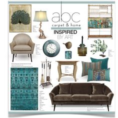 Inspired by Art With ABC Carpet & Home by jpetersen on Polyvore featuring interior, interiors, interior design, home, home decor, interior decorating, DwellStudio, Ralph Lauren Home, Tom Dixon and Pier 1 Imports