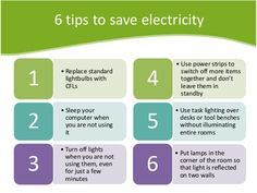 6 amazing tips to save electricity. #saveenergy #climatechange #tip