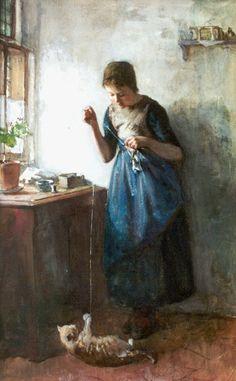 Speelkameraadjes ~ Johannes 'Albert' Neuhuys, 1877