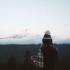 Mountain mornings in plaid