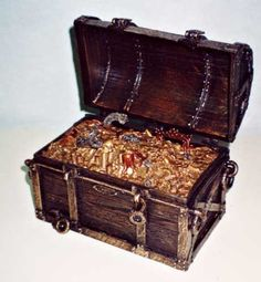This treasure chest compliments any decor