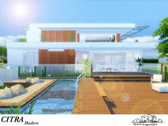 This modern house for your sims ! its featuring... Found in TSR Category 'Sims 4 Residential Lots'