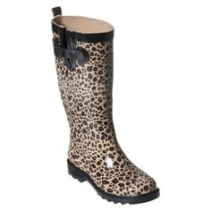 I love my rain boots, but I need a pair of leopard boots!!!