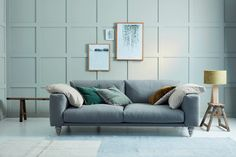 Maximus Sofa Upholstered in Stain Resistant Linen Stone