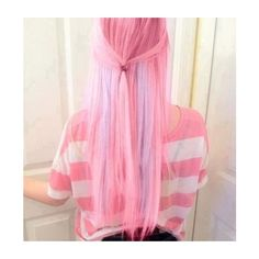 cotton candy pink hair on Tumblr ❤ liked on Polyvore featuring accessories, hair accessories and pink hair accessories