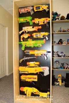 Nerf Gun Rack | Flickr - Photo Sharing!