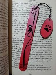 Cat bookmark hand painted bookmarks black cat marker animal bookmarks wood bookmark cat lover gift gray markers express shipping by axikedi on etsy Creative Bookmarks, Diy Bookmarks, Bookmark Ideas, Popsicle Stick Crafts, Craft Stick Crafts, Diy And Crafts, Wood Burning Crafts, Wood Burning Art, Watercolor Bookmarks