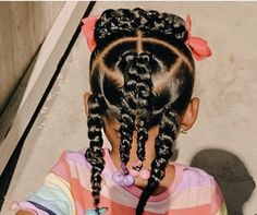 Toddler Braided Hairstyles, Girly Hairstyles, Black Kids Hairstyles, Cute Little Girl Hairstyles, Little Girl Braids, Natural Hairstyles For Kids, Braids For Kids, Girls Braids, Natural Hair Styles