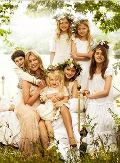 The Official Kate Moss Wedding Photos - Kate had a casual wedding outdoors. Prime example that casual weddings are in right now. More photos on: http://fashionista.com/2011/08/the-official-kate-moss-wedding-photos/