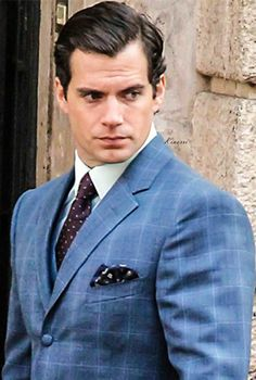 Henry Cavill on the set of Guy Ritchie's The Man from the U.N.C.L.E
