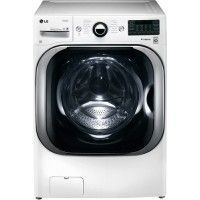 LG - 5.2 Cu. Ft. 14-Cycle High-Efficiency Steam Front-Loading Washer - White - Larger Front