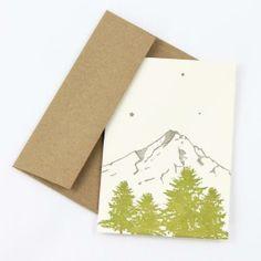 Letter pressed Mount Hood card.