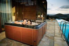 Hot tub rash info. http://www.folliculitistreatment.us/hot-tub-rash.html Hot Tub Couple Enjoying Hydrotherapy - Artesian Spas Platinum