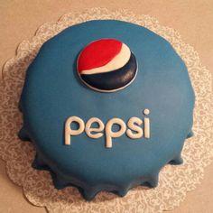 Pepsi cap fondant cake