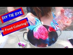 169595ca9e09 DIY  TIE DYE WITH FOOD COLORING! by Samantha Martin - YouTube  Ties