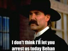 #Tombstone (1993) - Wyatt Earp Tombstone Movie Quotes, Tombstone Sayings, Tombstone 1993, Tombstone Arizona, Tv Quotes, Great Quotes, Wyatt Earp Quotes, Wyatt Earp Movie, Hollywood Quotes